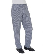 DC01E Dennys Blue/White Check Fully Elasticated Trouser